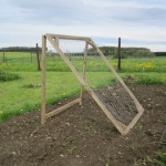 cucumber trellis seen on Pinterest