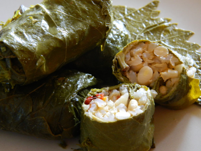 Stuffed vine leaves  (3)